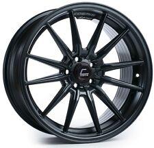 Cosmis R1 18x9.5 5x100 +35 Matte Black Rims Fits Corolla Celica Wrx Brz Frs Golf
