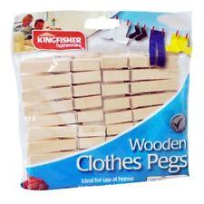 Paquete de 30 madera tradicional PINZAS TENDER ROPA CON Acero Resorte Para Firme