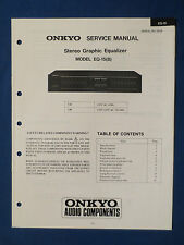 ONKYO EQ-15 B EQUALIZER SERVICE MANUAL ORIGINAL FACTORY ISSUE GOOD CONDITION
