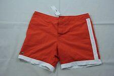 dc861c202be Lacoste Orange Drawstring Cotton Swim Trunk Mh9735 Sz. XL Authentic