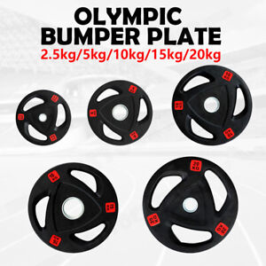 New 2.5-20KG Rubber Olympic Weight Plate Weight Lifting Bumper Barbell Dumbbell