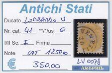ANTICHI STATI - LOMBARDO VENETO - LV0078 - NR. 41 USATO - CATALOGO 1250€