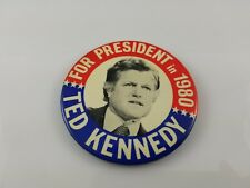 """1980 Ted Kennedy for President Presidential Campaign Button 3.5"""" Large"""