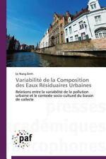 Variabilite de la Composition des Eaux Residuaires Urbaines by Nang Dinh Le...
