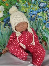 Stampato instructions-baby BIG Pompon Fast Trapper Hat knitting pattern