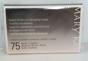 New & Sealed Mary Kay BEAUTY BLOTTERS OIL-ABSORBING TISSUES 75 SHEETS Free Ship!