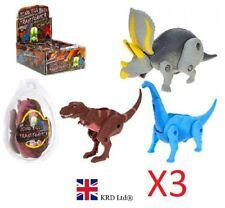 3x DINOSAUR EGG TRANSFORMER Kids Dino Christmas Stocking Filler Birthday Gift UK