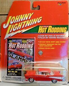 JOHNNY LIGHTNING 57 CHEVY 1/64 DIE CAST CAR BEL AIR HARDTOP POPULAR HOT RODDING