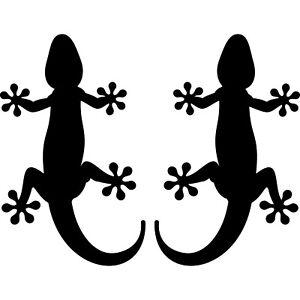 2 Sticker 1 Pair Gekko Gecko Tattoo Car Decoration Foil Adhesive Wall
