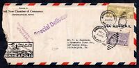 1933 USA Airmail Special Delivery cover & Minneapolis Cancel WS10713