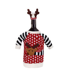 1 X Christmas Wine Bottle Holder Cover Gift Presents Novelty Table Xmas Reindeer