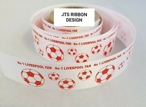 Liverpool Football Ribbon 25mm ideal for cakes and present wrap fast dispatch