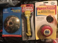 Tools Light Fixture Escape Hammer Wall Paper Remover New Lot