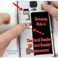 Samsung Galaxy Note 4 N910 Sim Card SD Memory Card Tray Reader Replacement