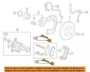 Chevrolet GM OEM 12-18 Sonic Brake-Front-Guide Pin 13504035