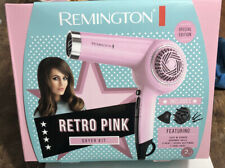 Remington Retro Hair Dryer D4100A Pink w/Attachments Special Edition