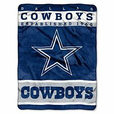 NEW NFL Dallas Cowboys 12th Man Plush Raschel Throw 60 x 80 FREE SHIPPING