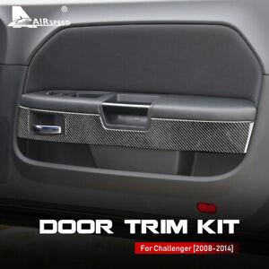 Car Door Trim Kit Cover Sticker Carbon Fiber For Dodge Challenger 2008-2014