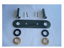 WALL MOUNTED FIXING PLATE KIT FOR SHOWER VALVE OR TAPS, ALL METAL & CHROME, 310