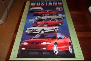 """36""""x20"""" 30th Anniversary 1995 Ford Mustang Poster 1964 1/2 1971 1968 1979 1983"""