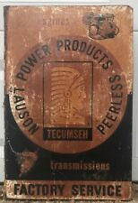 Vintage Original Tecumseh Factory Service Double Sided Metal Flange Sign Gas Oil