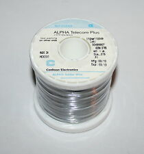 "Alpha Telecore Plus Solder Roll #110049 63SN/37PB Diam 0.015"" 1lb No Clean New"