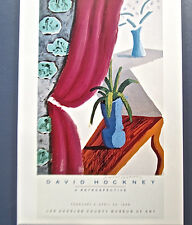 David Hockney Poster Reprint of  Magenta Curtain Image for L A  Museum of Art