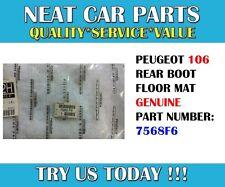 REAR BOOT FLOOR MAT FOR PEUGEOT 106 3 DOOR SALOON 7568F6 GENUINE
