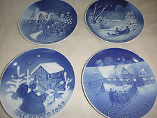 *lower 4 B & G Bing & Grondahl Jule After Christmas Plates 1967 1968 1969 1970