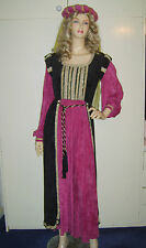 Ladies Tudor Medieval Renaissance Royal Princess Fancy Dress Costume 12-14 USED*