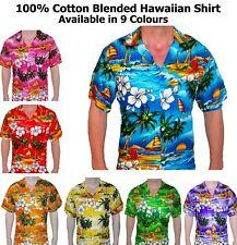 Mens Hawaiian Shirt Stag Do Hawaii Party Fancy Dress Sky Blue