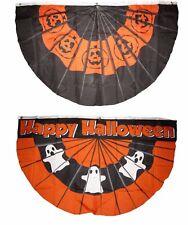 3x5 Happy Halloween 2 Pack Flag Wholesale Set Bunting Fan 3'x5' Banner Grommets