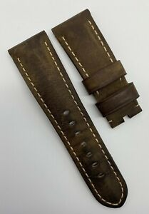 Authentic Officine Panerai 26mm x 22mm Assolutamente Brown Watch Strap Tang OEM