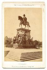MONUMENT OF FRIEDRICH WILHELM III. BERLIN GERMANY. CABINET CARD.