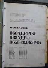 Komatsu Laderaupe D60 + D65 Werkstatthandbuch