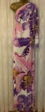 Temperley Londres Estampado Floral Uno Manga Drapeado Boda Vestido Maxi Fiesta 8