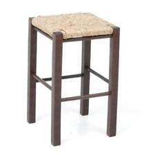 sgabello in legno con seduta in paglia cm 50 h sedia bar arredo casa