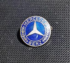 MERCEDES BENZ broche azul esmaltado AÑOS 50 Sellado 20mm ANTIGUO + ORIGINAL