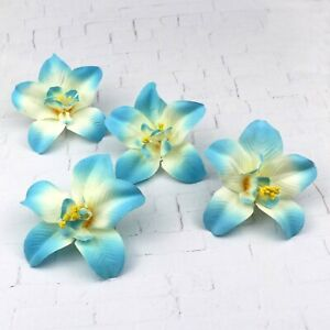 """Wholesale 3"""" Fake Orchid Artificial Silk Flower heads for Wedding Home Decor"""