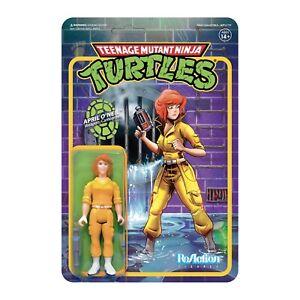"""SUPER7 Teenage Mutant Ninja Turtles April ONeil ReAction Figure 3.75"""""""