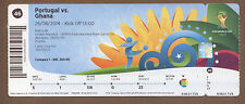 Used Ticket  Fifa World Cup Brazil 2014   PORTUGAL - GHANA // match 46  !!  RARE