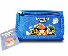 ANGRY BIRDS SPACE BLUE POUCH/WALLET-ANGRY BIRDS TRI-FOLD WALLET-NEW WITH TAGS!