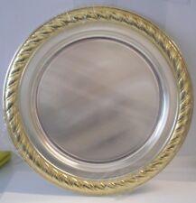 Vassoio piatto da servizio centrotavola sottopiatto 28,5 cm col. argento / oro