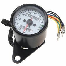 US-STOCK Motorcycle Gauges Dual Odometer Speedometer LED Backlight Indicator 12V