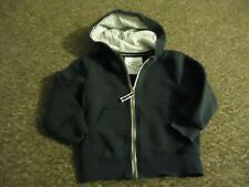 Next Hooded front zip Long sleeve black Top age: 2/3 years