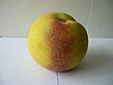 Vintage Alabaster Carved Painted Stone Peach