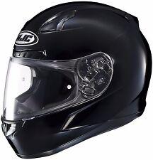 NEW MEDIUM HJC CL-17 Solid Gloss Black Full Face Helmet Adult DOT SNELL