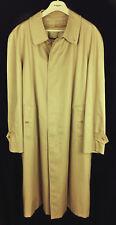 Vtg Mens Burberrys Trench Coat Zip out Nova Check Wool liner Khaki Beige Size 46