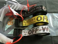 HOT OFF WHITE Tie Down Nylon Cotton IRON Head Industrial Belt 120/150/200cm