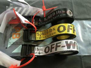 HOT OFF-WHITE Cintura industriale in nylon cotone IRON Head 120/150/200cm